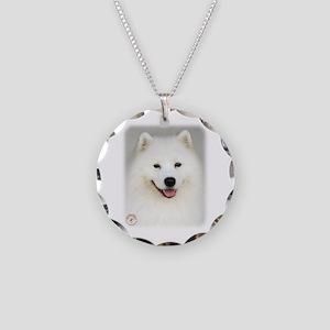 Samoyed 9Y566D-019 Necklace Circle Charm
