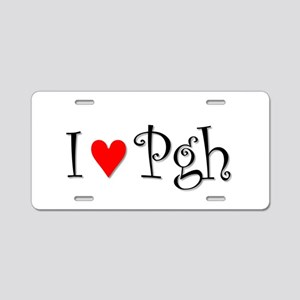 I Love Pittsburgh Aluminum License Plate