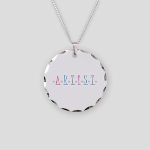 Artist Necklace Circle Charm