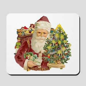 Santa and Small Tree Mousepad