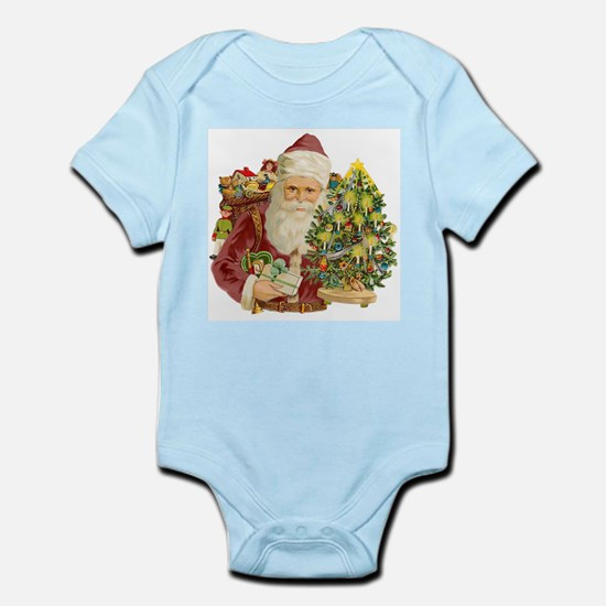 Santa and Small Tree Infant Bodysuit