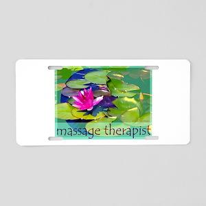 Massage Therapist / Waterlily Aluminum License Pla