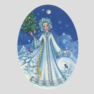Winter Magic Ornament (Oval)