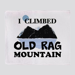 I Climbed Old Rag Mountain Throw Blanket