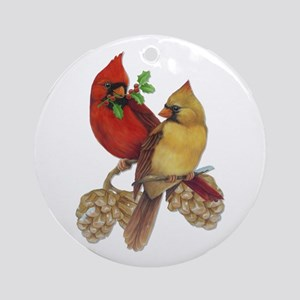 Winter Cardinals Ornament (Round)