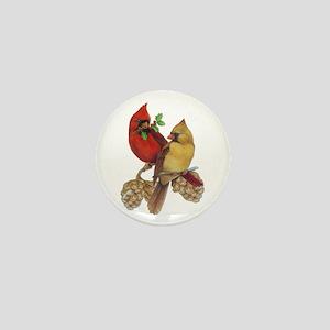 Winter Cardinals Mini Button