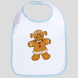 Gingerbread Woman Bib