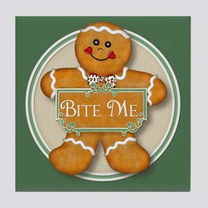 Gingerbread Man - Bite Me Tile Coaster