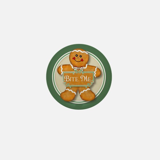 Gingerbread Man - Bite Me Mini Button