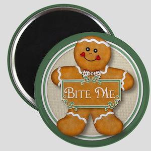 Gingerbread Man - Bite Me Magnet