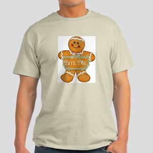 Gingerbread Man - Bite Me Light T-Shirt