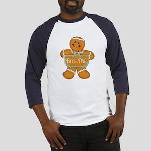Gingerbread Man - Bite Me Baseball Jersey