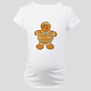 Gingerbread Man - Bite Me Maternity T-Shirt