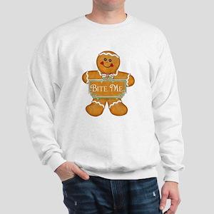 Gingerbread Man - Bite Me Sweatshirt