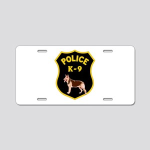 K9 Police Officers Aluminum License Plate