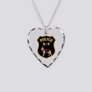 K9 Police Officers Necklace Heart Charm