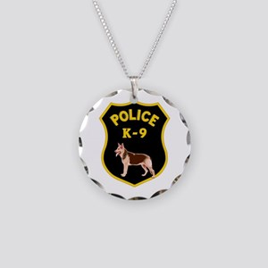 K9 Police Officers Necklace Circle Charm