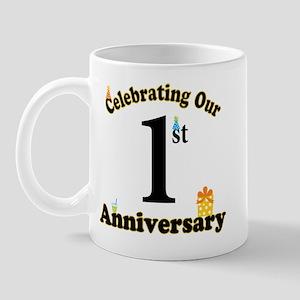 1st Anniversary Party Gift Mug