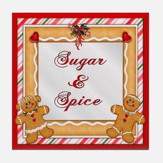 Gingerbread Man & Woman Tile Coaster