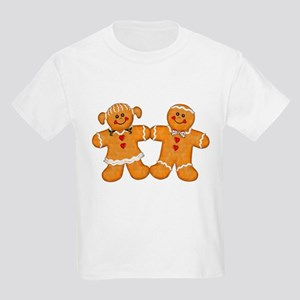 Gingerbread Man & Woman Kids Light T-Shirt