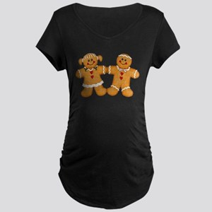 Gingerbread Man & Woman Maternity Dark T-Shirt