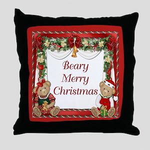 Berry Merry Christmas Throw Pillow