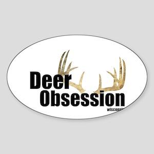 Deer Obsession Logo Sticker
