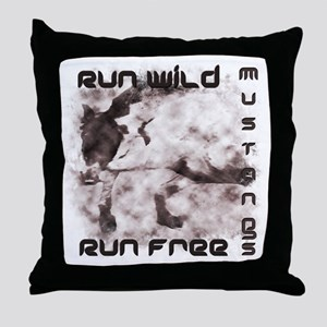 Mustang Tees and Gifts Throw Pillow