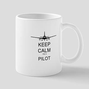 Keep Calm I'm A Pilot Large Mugs