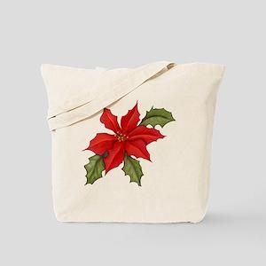 Poinsettia Christmas Tote Bag