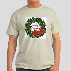 Christmas Holly Wreath Light T-Shirt