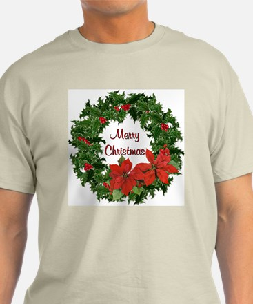 Christmas Holly Wreath T-Shirt