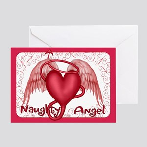 Naughty Angel - Inside Verse Greeting Card