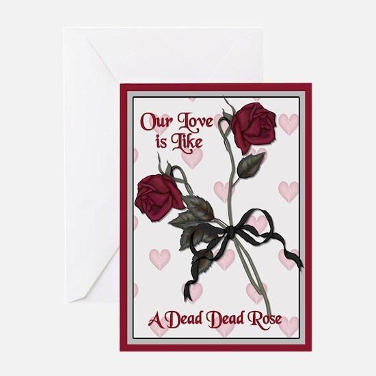 Dead Dead Rose Greeting Card