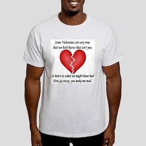 Broken Heart Ash Grey T-Shirt