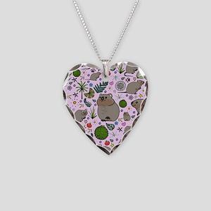 Quokkas Necklace Heart Charm