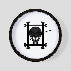 dark_skull_small_framed Wall Clock