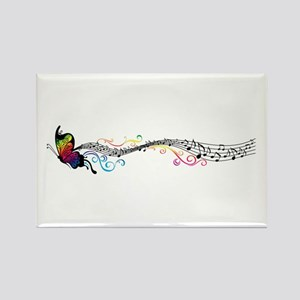 Butterfly Music Rectangle Magnet