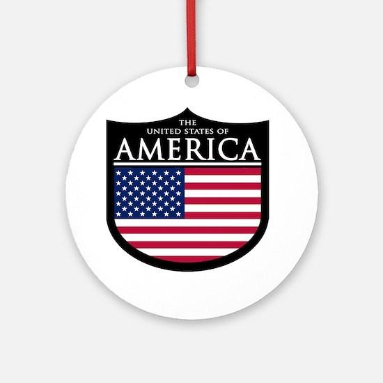 USA Patch Ornament (Round)