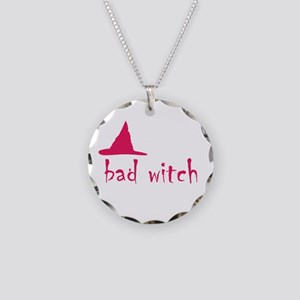 Bad Witch Necklace Circle Charm