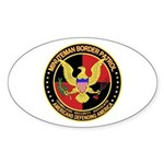 Minutemen Border Patrol Oval Sticker