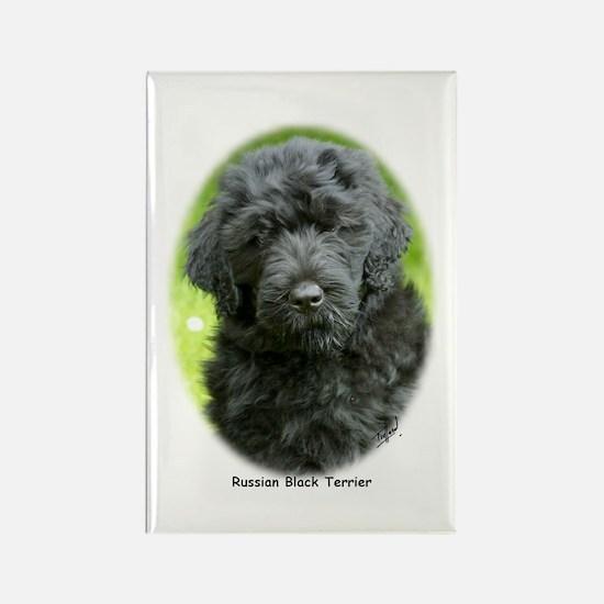 Russian Black Terrier 9T091D-030 Rectangle Magnet