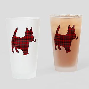 Scottish Terrier Tartan Drinking Glass