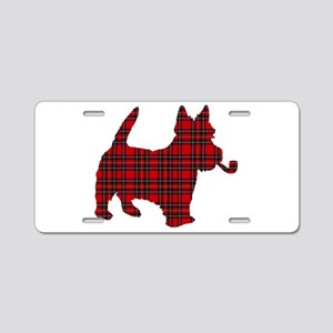 Scottish Terrier Tartan Aluminum License Plate