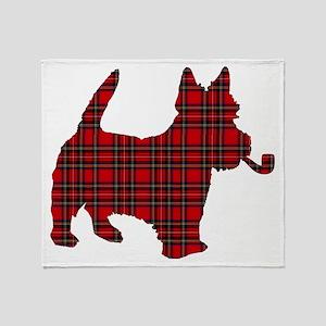 Scottish Terrier Tartan Throw Blanket