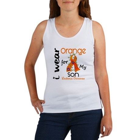 I Wear Orange 43 Leukemia Women's Tank Top