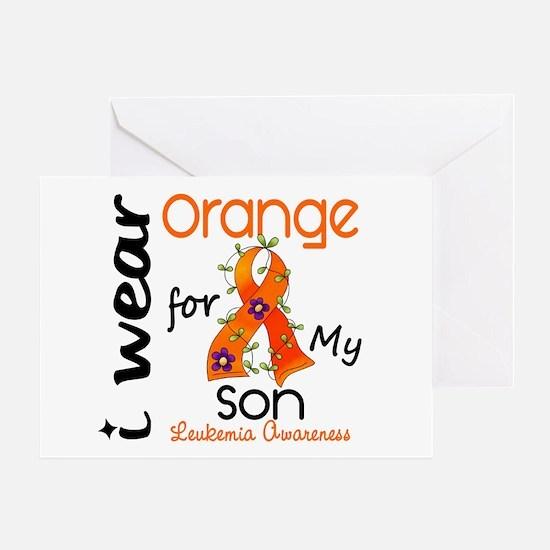 I Wear Orange 43 Leukemia Greeting Card