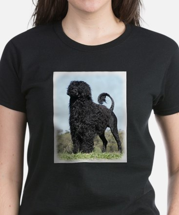 Portuguese Water Dog 9Y510D-061 Women's Dark T-Shi