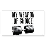 I love a gym where everyone k Sticker (Rectangle)