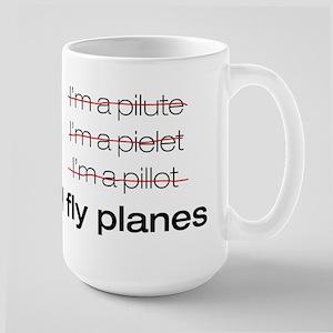 I fly planes Large Mug